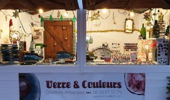 Verre et Couleurs sur la marché de Noël de Villeneuve sur lot du 05 au 27 décembre 2020.