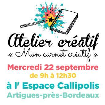 Atelier « Mon carnet créatif »