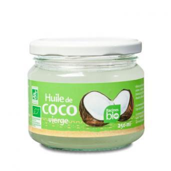 Huile de coco Racine bio pour cosmétique et soins de la peau et les cheveux